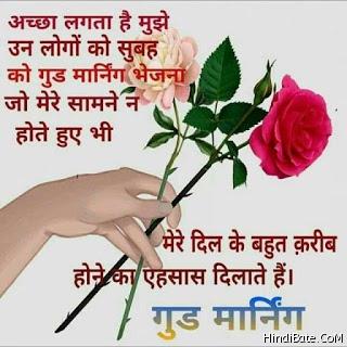 Good Morning Wish Rose