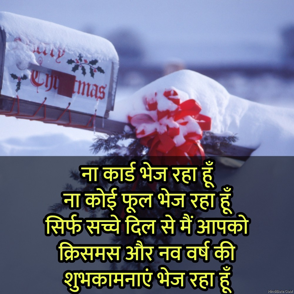 Merry Christmas Quotes With Images in Hindi