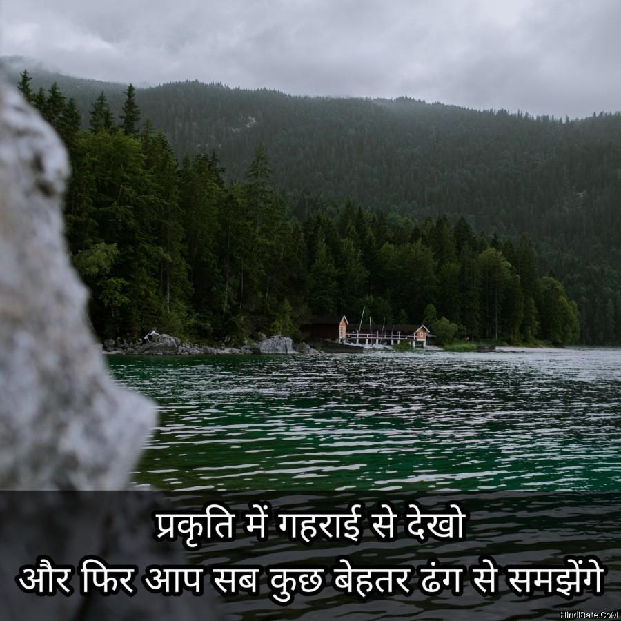 प्रकृति में गहराई से देखो