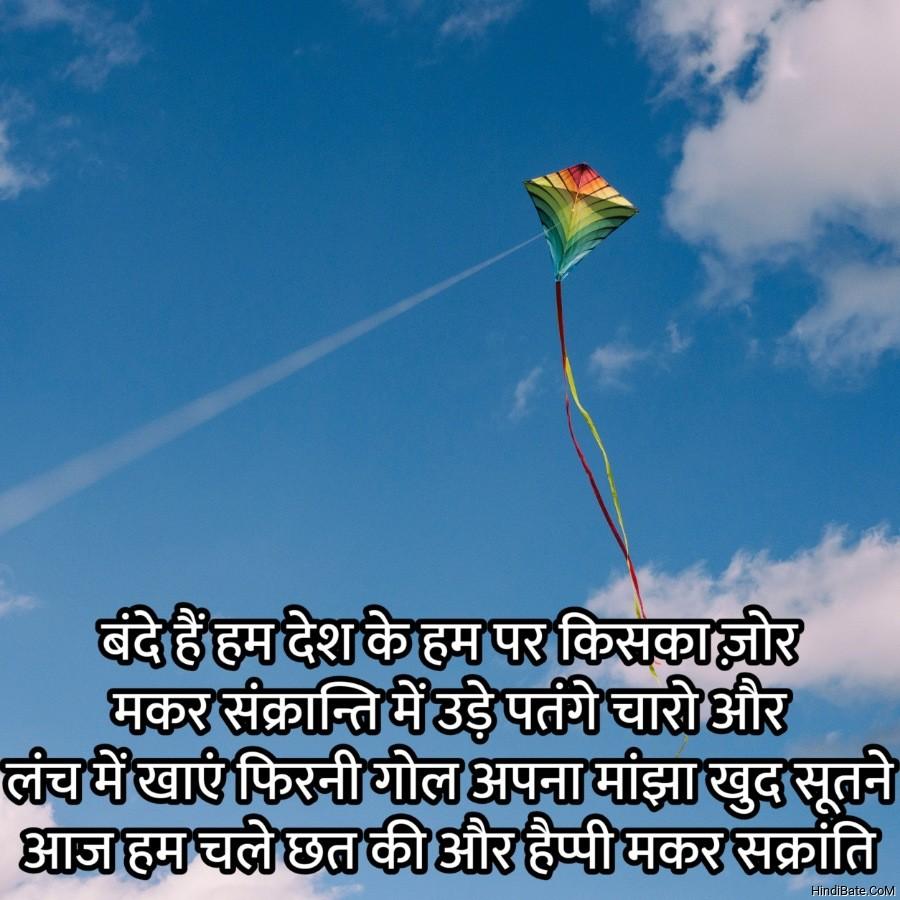 बंदे हैं हम देश के हम पर किसका ज़ोर मकर संक्रान्ति में उड़े पतंगे चारो ओर