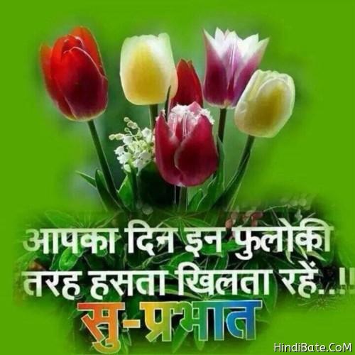 Aap ka din in phulo ke sath good morning pics quote