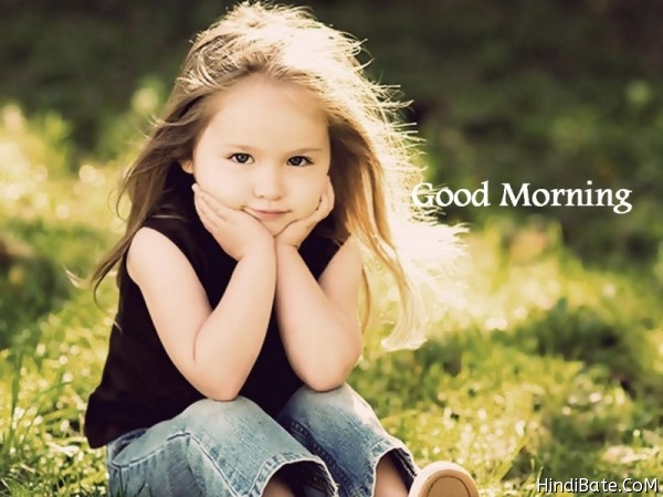 Good Morning Cute Kids Image for whatsapp