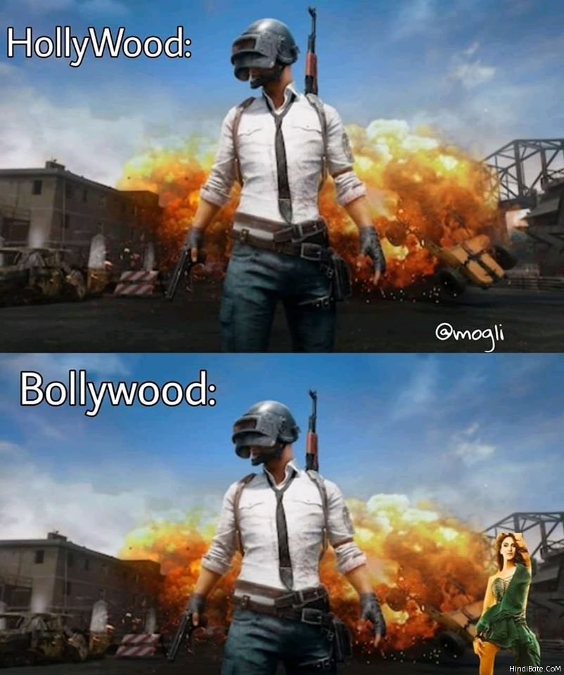 Hollywood vs Bollywood Memes in Hindi