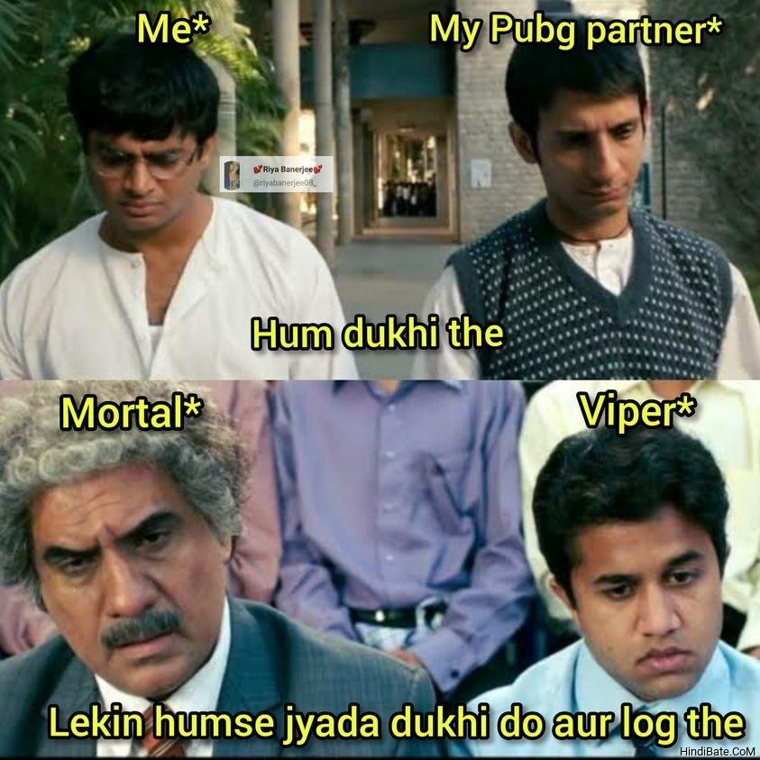 Hum dukhi the Lekin humse jyada dukhi do aur log the meme