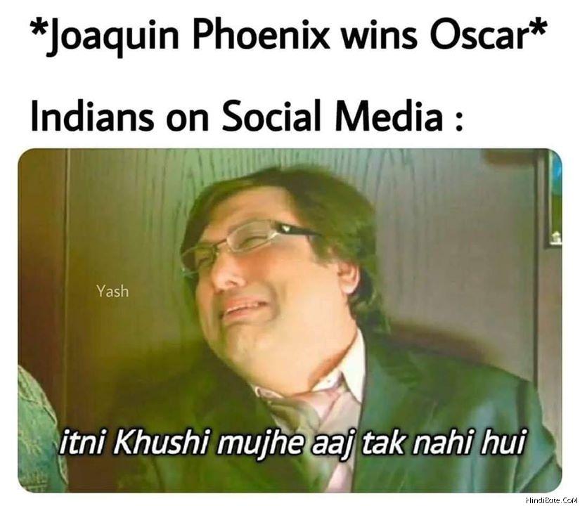 Itni Khushi Mujhe Aaj Tak Nahi Hui Memes in Hindi