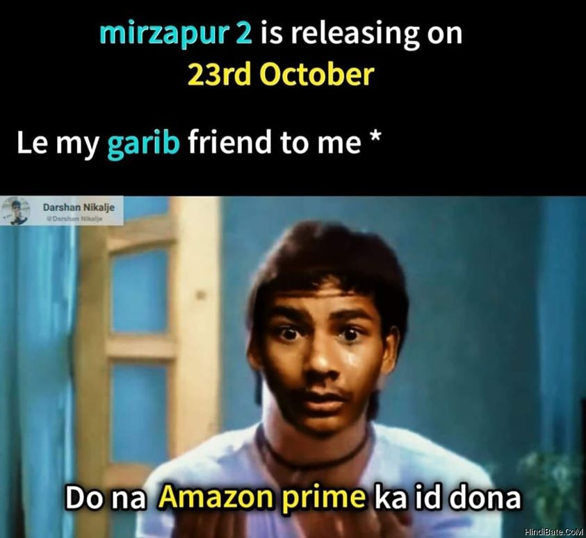 Mirzapur 2 Meme