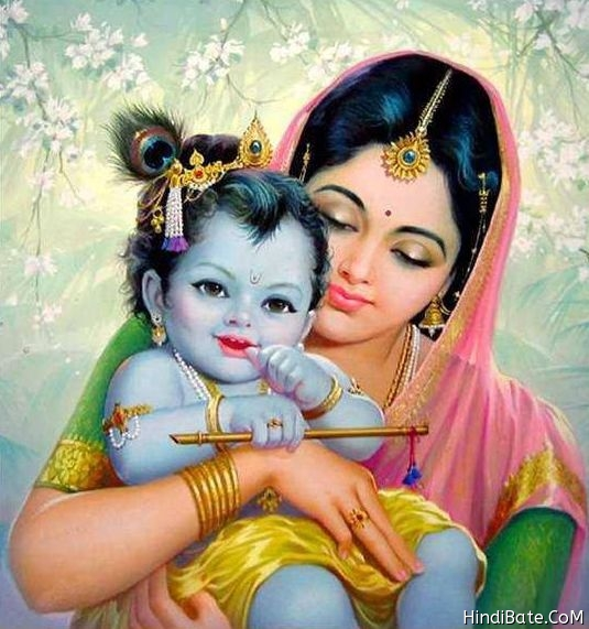Little Krishna with Yashoda image