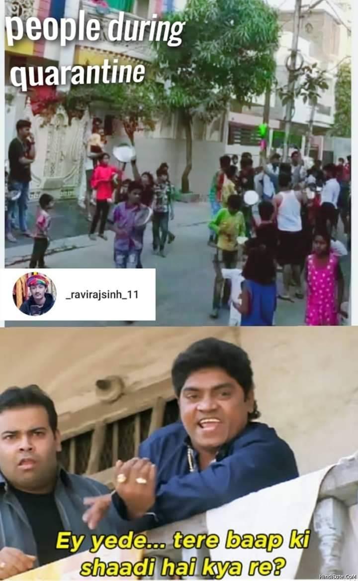 Quarantine Memes in Hindi