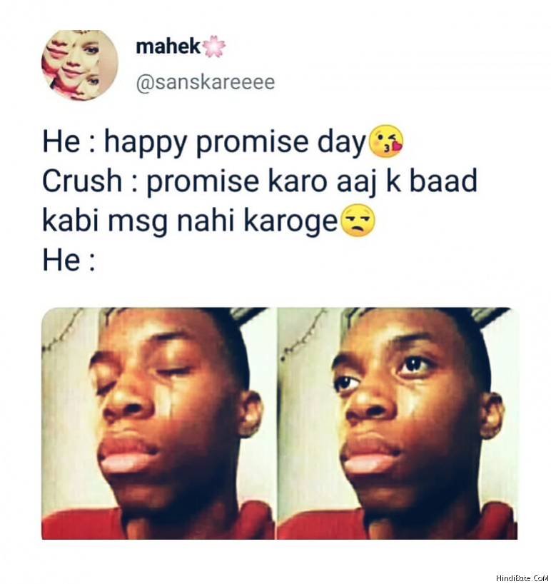Promise Day Memes in Hindi