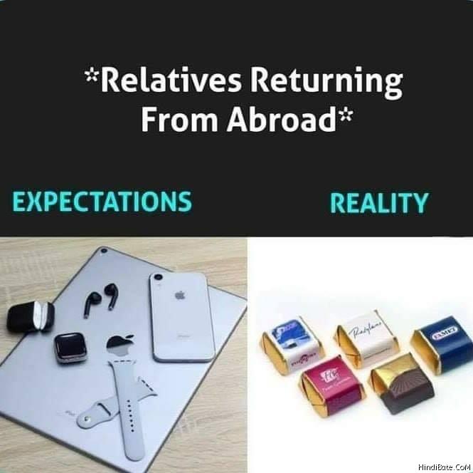 Expectation Vs Reality Memes in Hindi