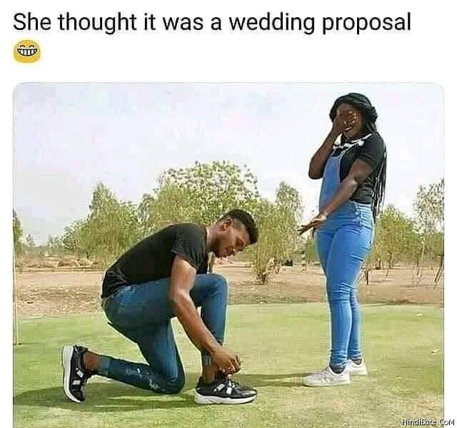 She thought it was wedding proposal