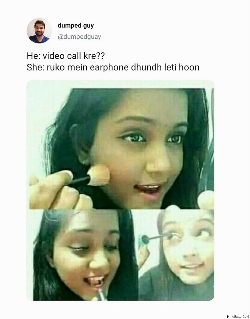 Video Call Memes in Hindi