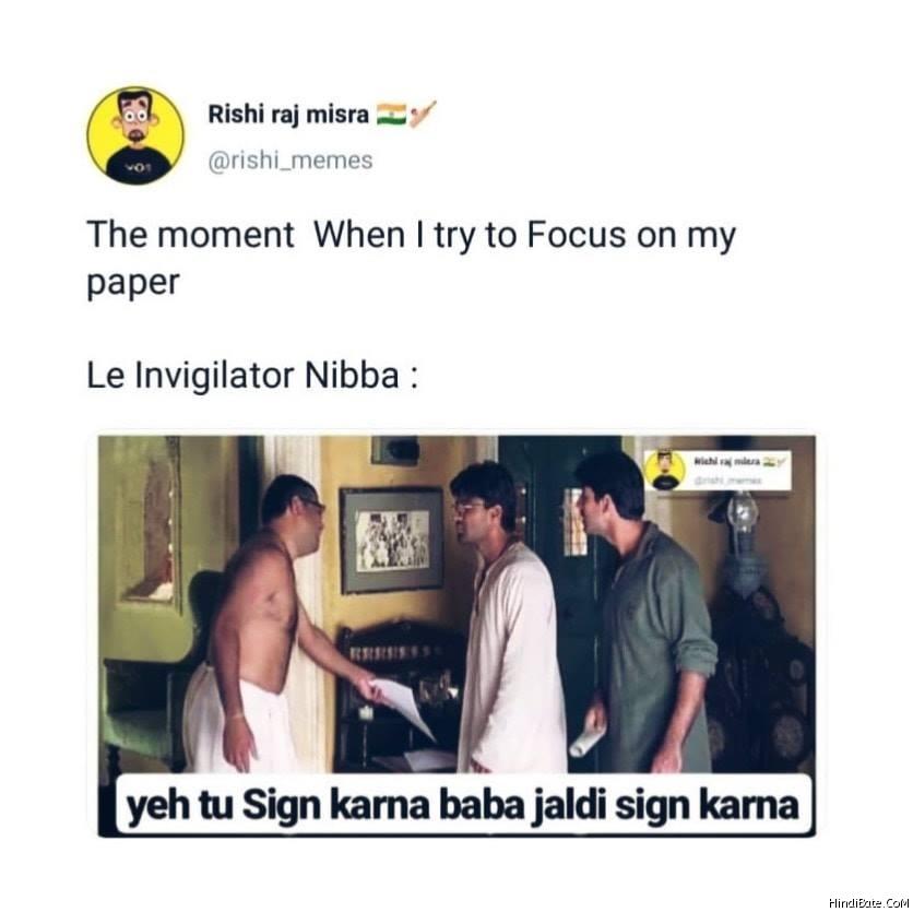 Yeh tu sign karna baba jaldi sign karna meme